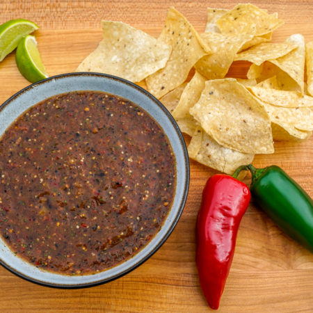 Roasted Tomatillo Tomato Salsa